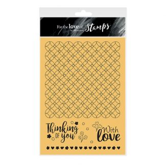 For the Love of Stamps - Lovely Lattice A5 Stamp Set