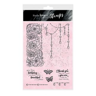 For the Love of Stamps A5 Stamp Set - Jewelled Elegance