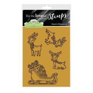Happy Town Stamp Set - Santa's Reindeers