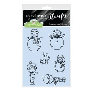 Happy Town Stamp Set - Snowmen & Friends