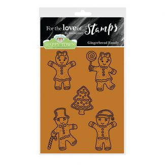 Happy Town Stamp Set - Gingerbread Family
