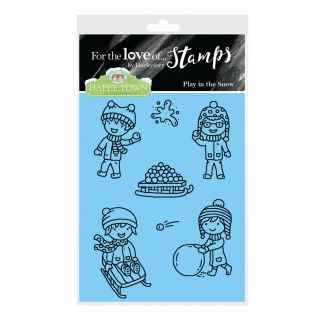 Happy Town Stamp Set - Play in the Snow