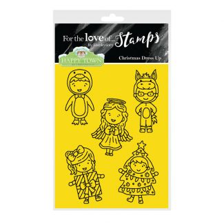 Happy Town Stamp Set - Christmas Dress Up