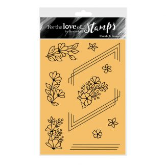 For the Love of Stamps - Florals & Frames A6 Stamp Set