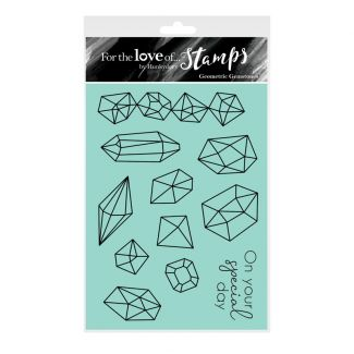 For the Love of Stamps - Geometric Gemstones A6 Stamp Set
