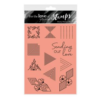 For the Love of Stamps - Pretty Pattern Panels A6 Stamp Set
