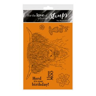 For the Love of Stamps - The Highland Cow A6 Stamp Set