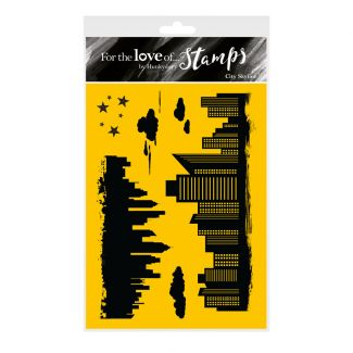 For the Love of Stamps - City Skyline A6 Stamp Set