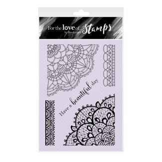 For the Love of Stamps - Delightful Doilies A6 Stamp Set