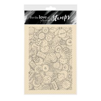 For the Love of Stamps - The Biscuit Barrel A6 Stamp Set