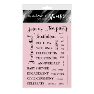 For the Love of Stamps - You're Invited A6 Stamp Set