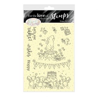 For the Love of Stamps - A6 Stamp Set - Hoppy Birthday