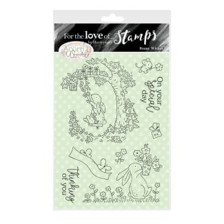 For the Love of Stamps - A6 Stamp Set -Bunny Wishes