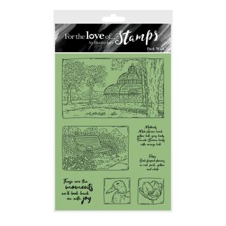 For the Love of Stamps - Park Walk A6 Stamp Set