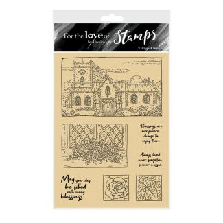 For the Love of Stamps - Village Church A6 Stamp Set