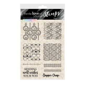 For the Love of Stamps - Dapper Chap A6 Stamp Set