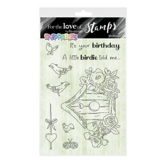 For the Love of Stamps - Snippables Cute & Colourful - Birdhouse