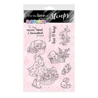 For the Love of Stamps - Snippables Cute & Colourful - Flower Girl