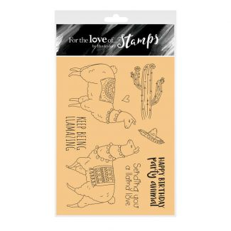 For the Love of Stamps - Llama Love A6 Stamp Set