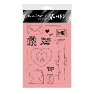For the Love of Stamps - Paper Hugs A6 Stamp Set