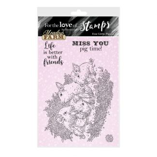 For the Love of Stamps - Four Little Piggies A6 Stamp Set