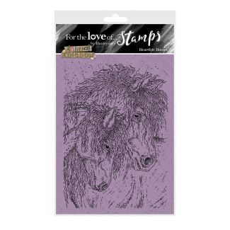For the Love of Stamps - Heartfelt Horses A6 Stamp Set