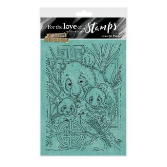 For the Love of Stamps - Peaceful Pandas A6 Stamp Set