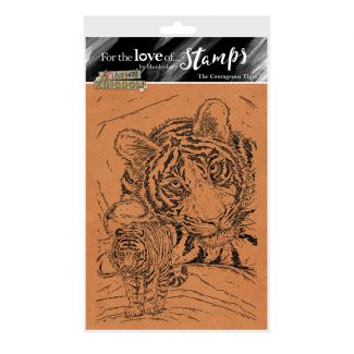 For the Love of Stamps - The Courageous Tiger A6 Stamp Set