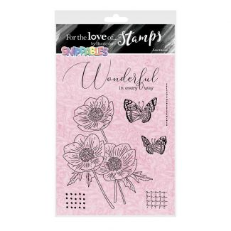 For the Love of Stamps - Floral Favourites Snippables - Anemone