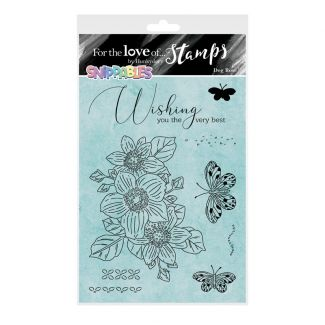 For the Love of Stamps - Floral Favourites Snippables - Dog Rose