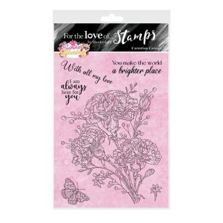 For the Love of Stamps - Carnation Corsage A6 Stamp Set