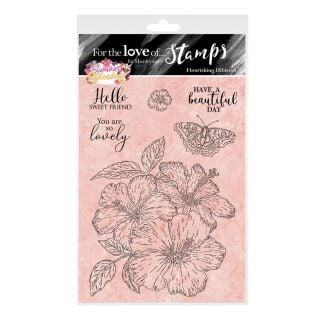 For the Love of Stamps - Flourishing Hibiscus A6 Stamp Set