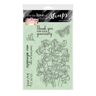 For the Love of Stamps - Sweet Pea Posy A6 Stamp Set