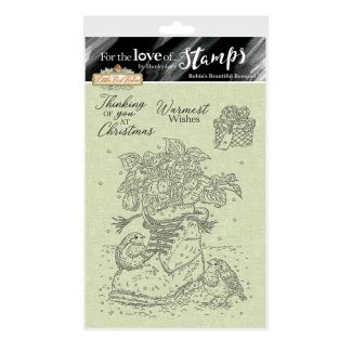 For the Love of Stamps - Robin's Beautiful Bouquet A6 Stamp Set