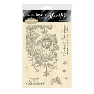 For the Love of Stamps - Robin's House A6 Stamp Set