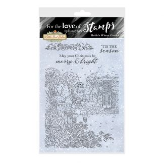 For the Love of Stamps - Robin's Winter Garden A6 Stamp Set