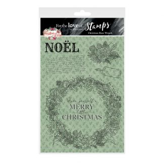 For the Love of Stamps - Christmas Rose Wreath A5 Stamp Set