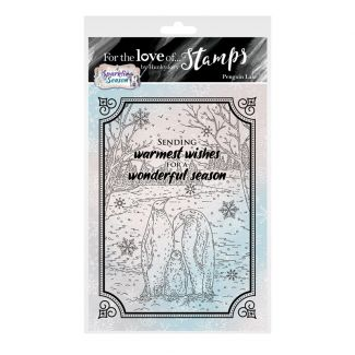 For the Love of Stamps - Penguin Lake A6 Stamp Set