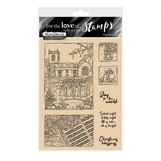 For the Love of Stamps - Church Choir A6 Stamp Set