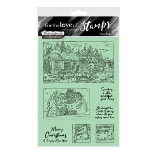 For the Love of Stamps - Santa Express A6 Stamp Set