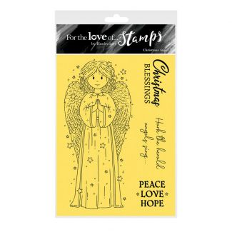 For the Love of Stamps - Christmas Angel A6 Stamp Set