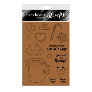 For the Love of Stamps - Mugs & Kisses A6 Stamp Set