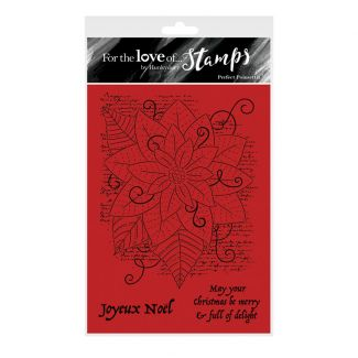 For the Love of Stamps - Perfect Poinsettia A6 Stamp Set