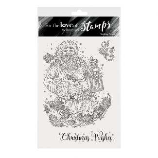 For the Love of Stamps - Smiling Santa A6 Stamp Set
