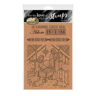 For the Love of Stamps - The Nativity A6 Stamp Set