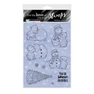 For the Love of Stamps - Building A Snowman A6 Stamp Set