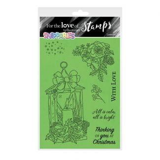 For the Love of Stamps - Snippables Christmas Cheers - Lantern