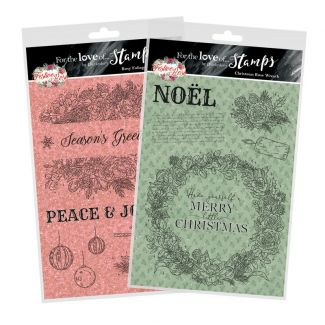 For the Love of Stamps - Festive Rose A5 Stamp Set Multibuy
