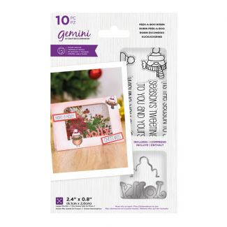 """Gemini - Stamp & Die - Peek-A-Boo Robin (includes 10 pieces: largest die size 2.4"""" x 0.8"""")"""