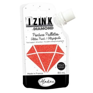 IZINK Diamond Glitter Paint - Red